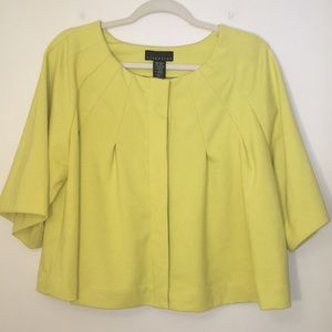 Attention Pleated 3/4 Sleeve Swing Jacket